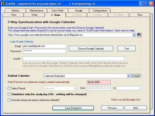 iCal4OL - Two ways sync solution between Google Apps and Outlook.