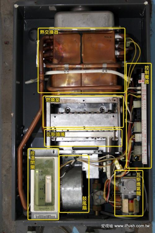万和电热水器内部构造图解