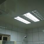 浴室天花板(用辦公室日光燈組當照明)